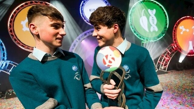 Cork students Cormac Harris and Alan O'Sullivan named Young Scientist winners