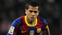 Players go bananas in support of Alves