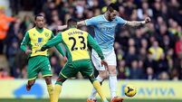 City miss out on top stop with draw at Carrow Road