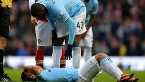 Aguero out 'for at least a month'