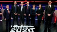 Party leaders clash over election promises during seven-way debate