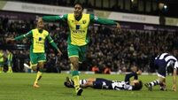 Norwich shock West Brom at The Hawthorns