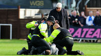 Soccer hooligan punches police horse as team is relegated