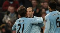 Zabaleta returns for City's clash with Reds