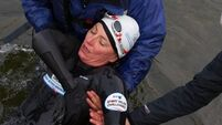 VIDEO: Davina treated for 'hypothermia' after charity challenge