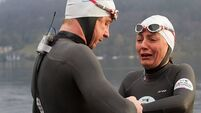 'Exhausted' Davina attempts 65-mile cycle after gruelling swim