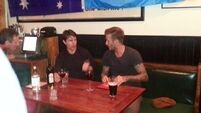 Becks and Tom spotted in Irish pub
