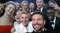 Spacey had to wrestle his way on to Oscars selfie