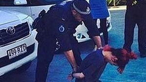 Lily Allen's 'fake arrest' pic pulled after it lands officers in hot water