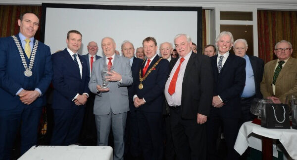 Frank Murphy is inducted into the Hall of Fame at the Cork City and County Youth Sports Star Awards at the Metropole Hotel. Picture John Tarrant