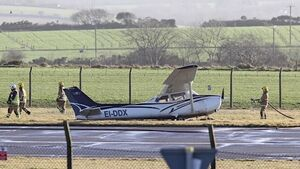 Light aircraft damaged upon landing at Cork Airport