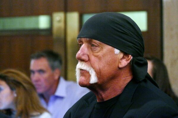 Hulk Hogan, in court last year in St Petersburg, Florida, in a case against celebrity blog site Gawker. Picture: Scott Keeler/The Tampa Bay Times via AP