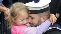 Families overjoyed as naval heroes from LÉ Samuel Beckett return from Mediterranean