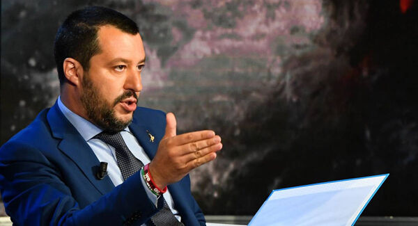 Hardline Italian interior minister Matteo Salvini refused to accept the migrant rescue ship Aquarius, before backing down and accepting a second ship, only to then impound it. Picture: Andreas Solaro