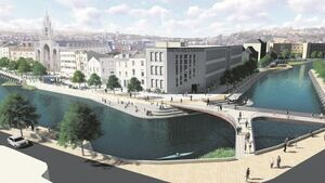 Cork Flood Defences - Option 1: The future of Morrison's Island according to the CRJA-IBI group