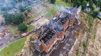 Cork fire: Manhunt under way after fire destroys listed building