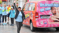 Agnes out of the picture as Mrs Brown's girl walks for charity