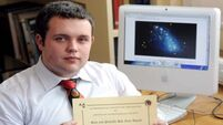 Young astronomer has names in the stars