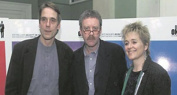 Michael Colgan with Jermy Irons and Sinead Cusack