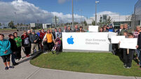 Local residents protest against Apple works in Cork