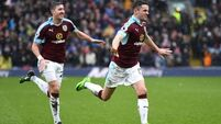 Clarets raise the spirits for the Premier League's Boys in Green