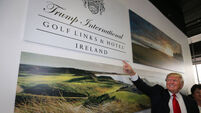 Trump golf course wall battle continues