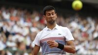Novak Djokovic survives first big test in French Open