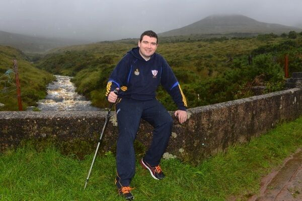 Fine Gael TD Brendan Griffin out walking near his home in Keel, at the foot of the Slieve Mish mountains, Co Kerry.