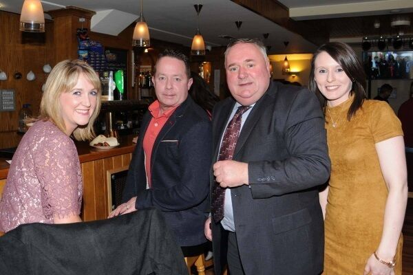 Fianna Fáil's Eugene Murphy, second from right, with Aine and Eddie Campbell and Andree McGuinness at a function at Shannon's Bar & Lounge, Termonbarry, Co Roscommon, to mark his first year as a TD.