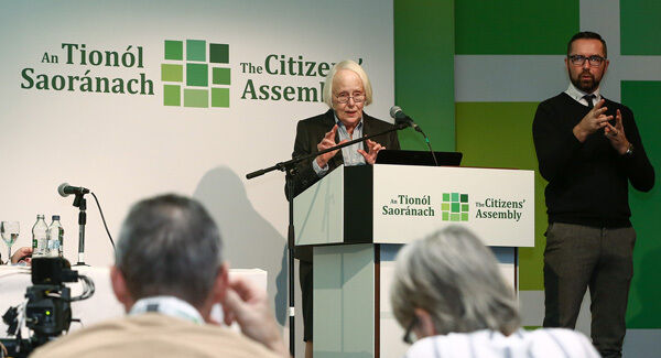 Judge Mary Laffoy at the Citizens' Assembly