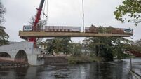River Lee's first new bridge in decade installed