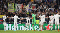 Joy for Gianluigi Buffon as Juventus coast through to final
