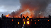 VIDEO: Fire rips through iconic building at former Our Lady's Hospital site in Cork