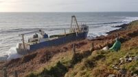 Environmental assessment underway on ship washed up on Cork coast