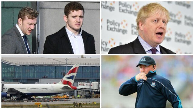LUNCHTIME BULLETIN: Taxi driver gives evidence in rugby rape trial; Man dies after 'serious accident' at Heathrow Airport