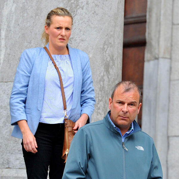 Gwenda and David Hughes at court. Pic: Larry Cummins