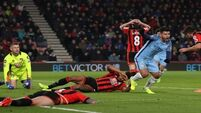 Aguero goal helps Man City up to second after beating Bournemouth