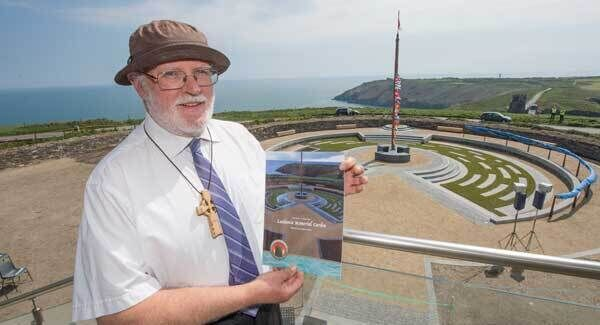 John Hereward from Cornwall, whose grandfather Herbert Ehrhardt was on the Lusitania, at the memorial opening. Picture Dan Linehan