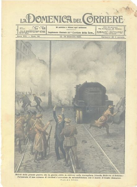 La Domenica's portrayal of events in Dublin in December 1920.