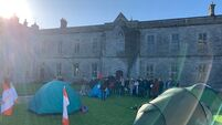 Protests spread as students in Galway begin sleep-out over rent hikes
