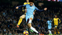 Guardiola wants even more from in-form Sane and Sterling