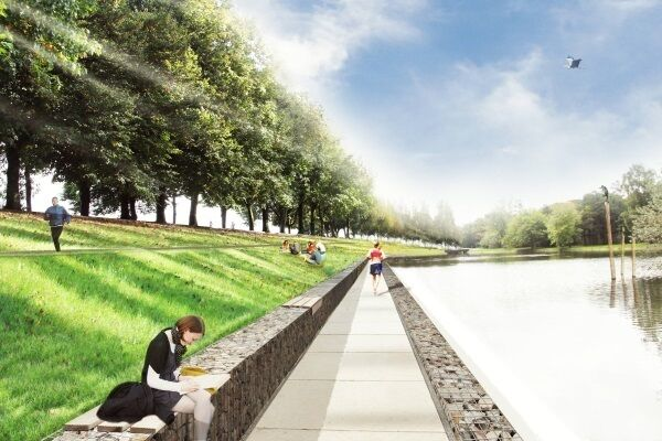 An artist's impression of the proposed Marina Park, where eight to 10 weeks of site clearance works is about to start on phase one of Cork City Council's ambitious €15m-€20m development, stretching from Monahan Rd and Centre Park Rd east to Blackrock harbour.