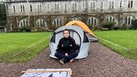 Students pitch tents on UCC quad in rent protest