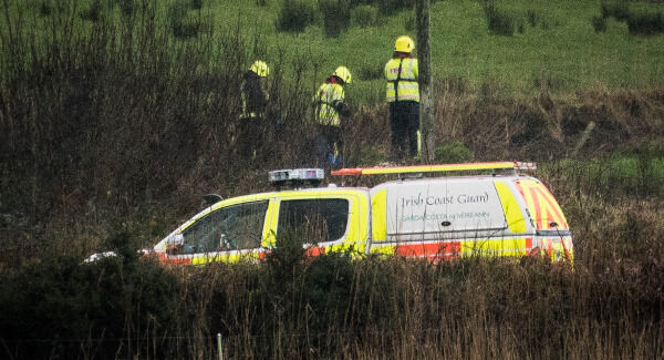Rescue Services at Carrowniskey, Louisburgh, Co. Mayo during the search for two men who went missing after their vehicle entered the water. Photo: Keith Heneghan