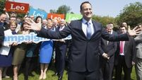 Stroll in the park for Leo Varadkar, but kissing babies is off the agenda