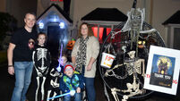 This Cork family have a hearse at their spooktacular Halloween house