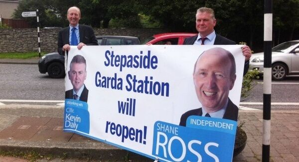 At the PAC yesterday, Transport Minister Shane Ross was criticised for posing with a poster about Stepaside station alongside Glencullen/Sandyford councillor Kevin Daly following the station's reopening.