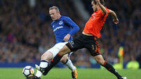 Leighton Baines saves Everton's blushes on Wayne Rooney's return