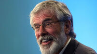 Gerry Adams denies he will step down as Sinn Féin leader in autumn