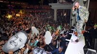Conor McGregor After-Fight Party And Wynn Nightlife Residency Debut, Encore Beach Club At Night In Wynn Las Vegas